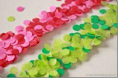 how to make DIY Confetti Tape