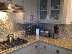 Pretty sparkly backsplash!! Eden Mosaic Tile 3D Raised Brick Pattern Aluminum Mosaic Tile