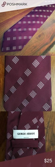 Excellent Condition Armani Tie Gorgeous and like new!  Burgundy and pink. Giorgio Armani Accessories Ties