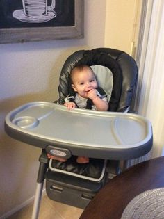 Dom in his new big boy high chair