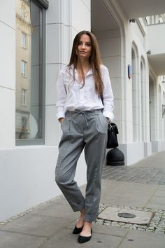 Wool moment #wool #trousers #fall #white #shirt