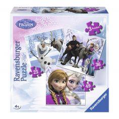 Disney Frozen - 3 Puzzels in Doos