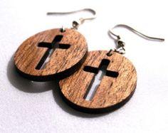 wooden cross jewelry – Etsy