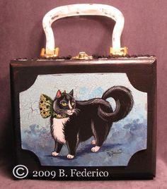 Federico Fantasy Art - Original Hand Painted Cigar Box Purses by Becky Federico