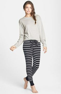 BP. Undercover 'Comfy Cozy' Stripe Pajama Pants (Juniors) | Nordstrom. These look so comfy!