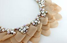 CECILIA YOSSEN Accesorios textiles con un fuerte trabajo de bordado en piedras y otros materiales. http://charliechoices.com/cecilia-yossen/
