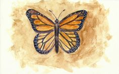 """""""Change is Beautiful"""" watercolor painting of a butterfly by Brandi Miller"""
