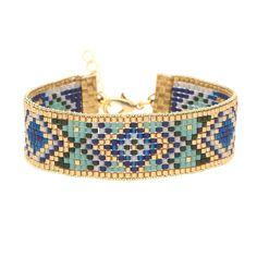 Ce magnifique bracelet en kit est le moyen idéal pour débuter dans l'apprentissage du tissage #lacabaneaperles
