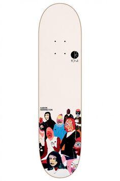 AMTK Aaron Herrington Scene B skateboard deck by Polar.