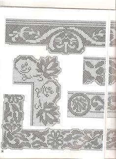 bordi filet con angoli (3) - magiedifilo.it punto croce uncinetto schemi gratis hobby creativi