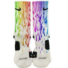 Custom Nike Elite Paint Drips Socks Rare Limited Customized Mens Womens Made USA Nike Shoes Cheap, Nike Free Shoes, Nike Shoes Outlet, Running Shoes Nike, Cheap Nike, Nike Elites, Multi Coloured Socks, Zoom Iphone, Curvy Petite Fashion