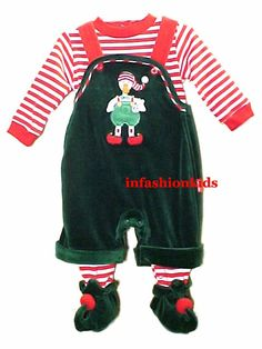 Babys First Christmas Outfit - Santa's Elf for Boys. Holy moly, this is cute!