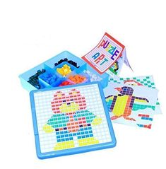Dazzling Toys Create a Mosaic Puzzle Kit Kids Creative Picture Puzzle Kit Set Contains a Total of 490 Mosaic Pieces in 7 Different Colors 70 from Each Color
