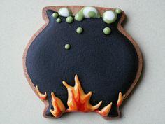 Halloween cookies by Honeycat Cookies, via Flickr