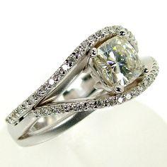 Modern Diamond Engagement Ring - Scott's Custom Jewelers