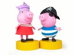 Peppa Pig de Princesa e George Pig de Pirata - lindos, né?