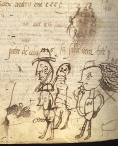Fun Medieval Doodles--They are the (real) medieval equivalent, as it were, of us scratching on a piece of paper to get the ink flowing.