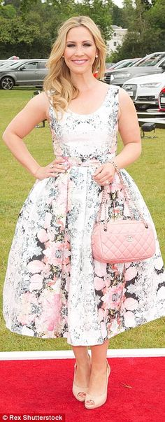 Blooming lovely: Former Sugababes star Heidi Range also opted for a floral dress Hannah Tointon, Professor Green, Mr Selfridge, Millie Mackintosh, 90s Style, Looking Stunning, Kara, Elegant Dresses, 90s Fashion