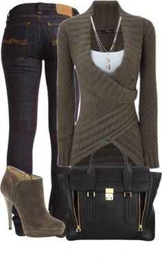 Comfy fall outfit.: