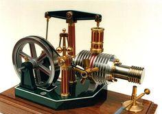 Walking beam Stirling engine. http://www.craftsmanshipmuseum.com/Howell.htm