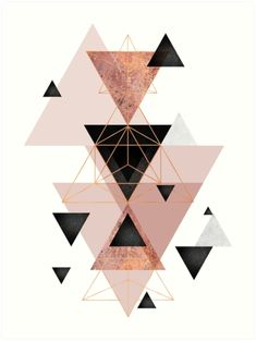 """""""Geometric Triangles in blush and rose gold"""" Canvas Print by UrbanEpiphany Rose Gold Wallpaper, Iphone Background Wallpaper, Pastel Wallpaper, Aesthetic Iphone Wallpaper, Toile D'or, Rose Gold Throw Pillows, Tapete Gold, Gold Canvas, Cute Patterns Wallpaper"""