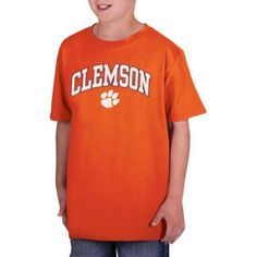 Ncaa Clemson Tigers Boys Classic Cotton T-Shirt, Size: XL, Orange