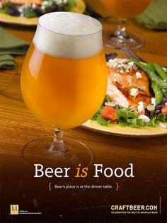 Resultado de imagen para craft beer advertising with food