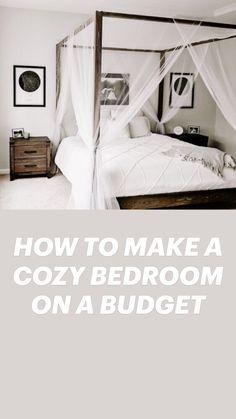 Couple Bedroom, Small Room Bedroom, Home Bedroom, Bedroom Decor, Small Rooms, Bedroom Ideas, Tiny Bedrooms, Budget Bedroom, Bed In Closet