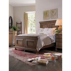 rustic light tan cal king beds with side storage | To see each finish on this item, please click the FINISH OPTIONS box ...