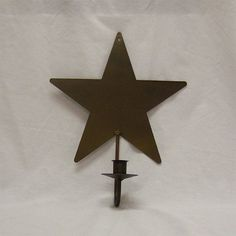 Brown Wrought Iron Hanging Star Taper Holder www.amishcountrydecorandmore.com