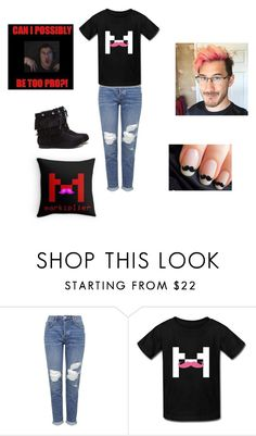 """MARKIPLIER"" by pinkleopardchick ❤ liked on Polyvore featuring Topshop"