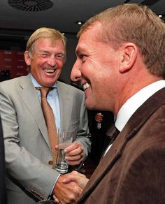 ♠ The Bill Shankly birthday celebration dinner at Hilton Hotel, Liverpool. Former player & manager Kenny Dalglish with current manager Brendan Rodgers. Liverpool Fc Managers, Liverpool Football Club, Liverpool Fc Wallpaper, Kenny Dalglish, Brendan Rodgers, Celtic Fc, Baywatch, Titanic, Rotterdam