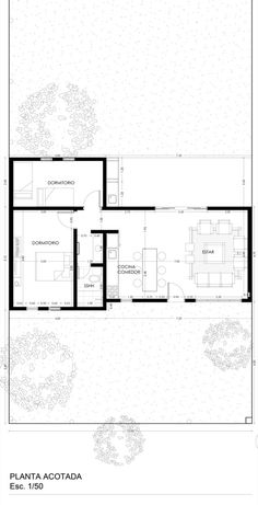 Modern Bungalow House, Tiny House, Jungle House, Small House Plans, House In The Woods, Open Plan, Architecture Design, New Homes, Floor Plans