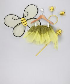 Take a look at this Yellow Bumblebee Tutu Set - Toddler by Cinderella Couture on #zulily today!
