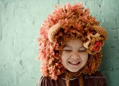 I can't wait til baby girl will wear hats. She HATES having things on her head right now.    Lion/Lioness.