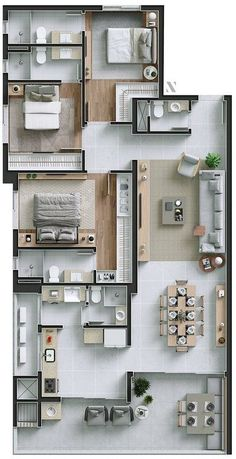 Remove kitchen toilet and reduce that entire area [Convert to Dorm] Sims House Plans, House Layout Plans, Family House Plans, Bedroom House Plans, House Layouts, Master Bedroom Plans, Dream House Plans, 3 Bedroom Home Floor Plans, Duplex House Plans