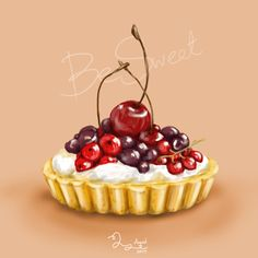 Food Illustration by Bim Yuphawan, via Behance Cake Drawing, Food Drawing, Cupcakes, Desserts Drawing, Dessert Illustration, Sweet Drawings, Watercolor Food, Food Painting, Pastry Art