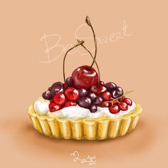 Food Illustration by Bim Yuphawan, via Behance