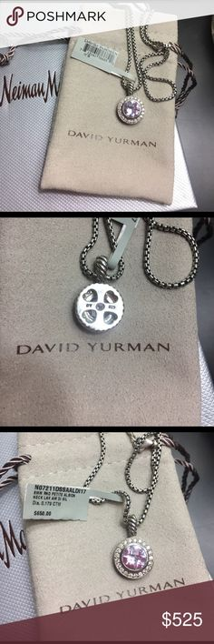 NWT David Yurman Necklace Gorgeous NWT authentic David Yurman necklace. Purchased from Neiman Marcus. 8MM Round Petite Albion Lavender necklace with 17 inch chain. Originally bought for $650, comes with DY pouch and NM box. NO trades! David Yurman Jewelry Necklaces
