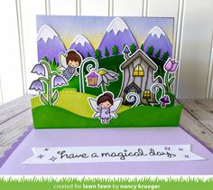 the Lawn Fawn blog: A Fairy Friends Pop-up Card by Nancy
