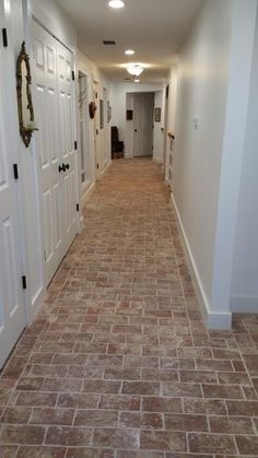 Tommy Martin's front entry with Wright's Ferry tiles, in the Savannah color mix with wood ash.