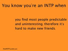 Took the MBTI again and got INTP as my primary personality type, INTJ as my secondary or second closest. Hmm.