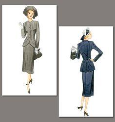 V1019, Misses' Jacket and Skirt