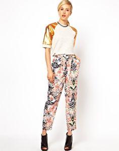 ASOS Peg Trousers in Floral Print - LIKE print
