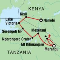 Where I was for the most part...Ngorongoro Crater will always be my favorite :D