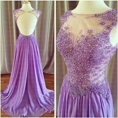 Prom Dresses Sexy ,Formal Dresses,Chiffon Party Dress Backless Prom Dresses Custom Made