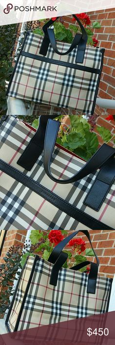 Authentic Burberry tote Like new condition. ..medium Burberry Bags