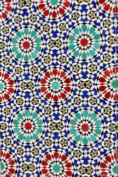 decorative tile mosaic, Morocco