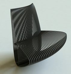 the Ellipses Seating by Giuseppe Vigano: a repeating elliptical motif with a lacquered metal frame.