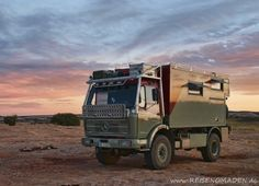 Fernreisenmobil Using A 1978 Mercedes Benz 1017 Truck As The Basis For Serious Off Road Camper
